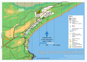 Cape Conran Coastal Park map